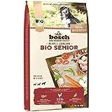 bosch HPC BIO | Senior Hühnchen & Preiselbeere | Hundefutter für ältere Hunde aller Rassen | 100 % landwirtschaftliche Rohstoffe aus nachweislich biologischem Anbau