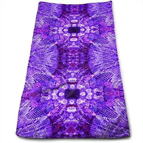 DAICHAI Handtuch Glows in The Dark Purple 100% Polyester Towels Ultra Soft Absorbent Bathroom Towels Great Shower Towels, Hotel Towels Gym Towels