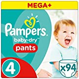 Pampers Baby-Dry 94 Nappy Pants, 8 - 14 kg, Size 4
