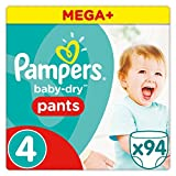 Pampers - Baby Dry Pants - Couches-culottes Taille 4 (8-14 kg) - Mega+ Pack (x94...