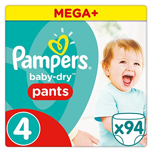 PAMPERS   BABY DRY PANTS    JUEGO DE 94 PAÑALES DESECHABLES  TALLA 4 (8 14 KG)   MEGA + PACK