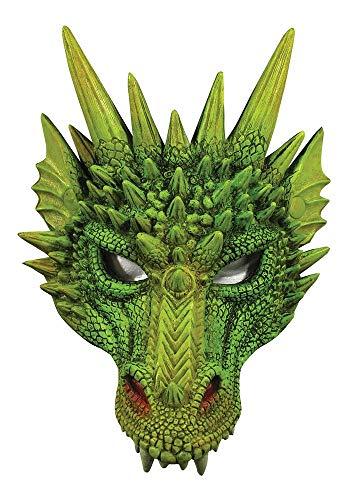 shoperama Kinnlose Drachen-Maske aus Schaumlatex Halloween Maske Karneval Dragon Mythologie ()