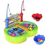 Electric Magnetic pesca de juego de mesa de música de rotación de juguete Desarrollo educativo temprano para niños de 3 años - DA QUN - amazon.es