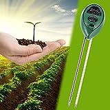 LYPULIGHT 3-in-1 suelo probador del suelo medidor de humedad luz PH prueba kits jardinería planta atención plantas paisajismo césped cuidado interior y exterior