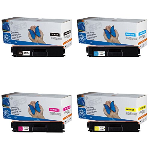 4x Toner TN336/326 (B/C/M/Y) für Brother DCP-L8400, DCP-L8400CDW, DCP-L8400CDN, DCP-L8450, DCP-L8450CDW, HL-L8250, HL-L8250CDN, HL-L8350, HL-L8350CDW, MFC-L8650, MFC-L8650CDW, MFC-L8850, MFC-L8850CDW