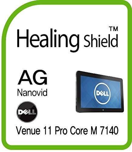 Healingshield Schutzfolie Displayschutz Screen Protector Anti-Fingerprint Anti-Glare Matte Film for Dell Tablet Venue 11 Pro Core M 7140 [Front 1pc] (Screen Print Rainbow)