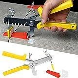 Pinze da pavimento per piastrellisti, Kit 801 Pezzi Sistema di livellamento per piastrelle aiuti posa piastrelle (600 clip + 200 cunei)