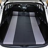 Auto Aufblasbare Matratze Reise Luftbett Rücksitz SUV Outdoor Exposed Camping Rücksitz Schlafmatte Kissen Auto Schock Bett (Farbe : Black Gray)