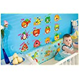 Jaamso Royals 'Fruits With Cartoons' Wall Sticker For Baby/Kids (Vinyl, 30 Cm X 5.1 Cm X 5.1 Cm, JR AY1003A)