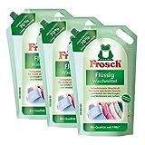 3x Frosch Flüssig Waschmittel 1,8 Liter -Farbschützende Waschkraft