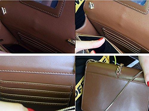 Sacchetto di spalla obliquo della piccola borsa del sacchetto del sacchetto del sacchetto del mini sacchetto di spalla selvaggio piccolo piccolo ( Colore : Nero ) Bianca