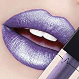CICIYONER Damen Metall Lippenstift Lip Gloss Liquid Lippe Kosmetik, 24 Farben (14 #)