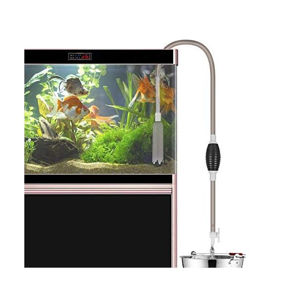 Laelr Fish Tank Cleaner, Aquarium Water Changer Gravel Filter Aquarium Siphon Vacuum Pump Water Changing Sand Washing…