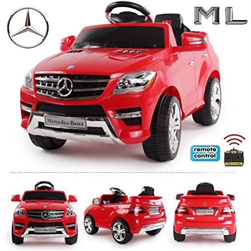 RC Auto kaufen Kinderauto Bild 2: Original Mercedes-Benz ML 4x4 4MATIC 350 SUV Lizenz Kinderauto Kinderfahrzeug (ROT)*