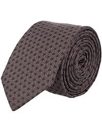 Strellson Schmale Krawatte Seide Clubkrawatte Schwarz Gepunktet