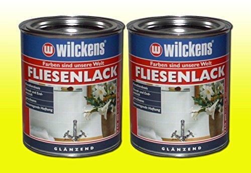 2 DOSEN FLIESENLACK GLÄNZEND Fliesenfarbe WEIß 2 x 750ml