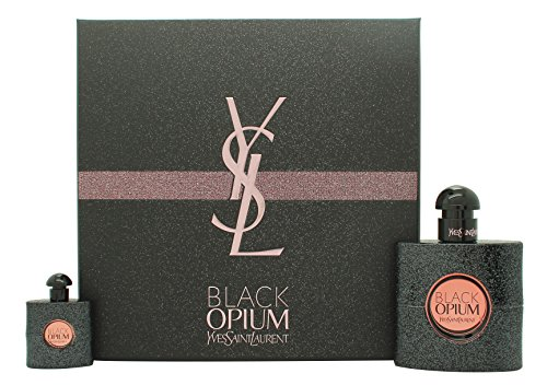Yves saint laurent–black opium confezione regalo 50ml edp + 7.5ml edp spray da viaggio