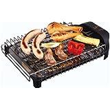 Jata BQ101 Electro Barbacoa Sin Humos Ni Olores Parrilla con 2 Alturas para Cocinar Sano en el interior con Todas las Comodid