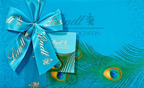 Lindt  Pralinés Hochfein in Geschenkpapier im Pfaunfedern Design, 11 unterschiedliche Sorten, 2er Pack (2 x 200 g)