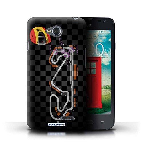 Kobalt® Imprimé Etui / Coque pour LG L65/D280 / USA/Austin conception / Série 2014 F1 Piste Espagne/Catalogne