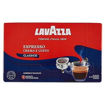 Lavazza Espresso Crema e Gusto, Tostatura Scura – 18 Cialde