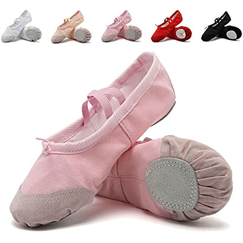 Mann Tango Kostüm (DoGeek Gute Qualität Ballettschuhe weich Spitzenschuhe Ballet Trainings Schläppchen Schuhe für Mädchen/Damen in den Größen)