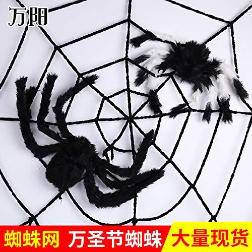 Ya1&Ya Plüschtiere_Halloween Requisiten Spinnen Spinnennetz Bar Dekorationen Simulation Plüsch Twisted, 150cm Material Schwarz (Twisted Spinnen)