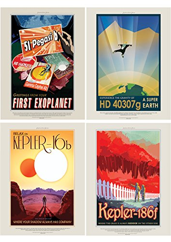 NASA POSTER SPACE EXOPLANET TRAVEL ADVERT PACK x 7 POSTERS ART PRINTS HP3845 - Art Print Poster