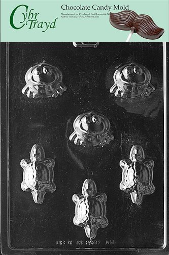 Cybrtrayd A111 Frogs/Turtles Animal Chocolate Candy Mold by CybrTrayd (Mold Frog Candy)
