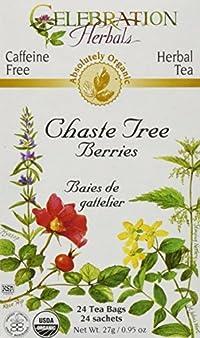 Celebration Herbals Organic Chaste Tree Berries Tea, 24 Bags