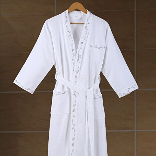 Bathrobes ZLR Hotel Pure Cotton Men And Women Couple Pure Cotton Nightdress Thin Section Water Absorbent