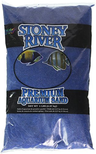 Stoney River Blue Aquatic Sand Süßwasser- und Meerwasseraquarium, 1,7 kg Beutel (Aquarium Sand Süßwasser-blau)