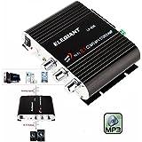 ELEGIANT 200W 2.1CH Mini Amplificador Estéreo HIFI para coche MP3,Radio, Amplificadorpara Coche y Moto, CD, DVD(Sin fuente de alimentación)