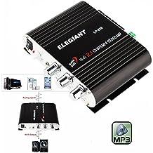 Mini HiFi ELEGIANT 200 W 2,1 canali per Auto MP3 di potenza amplificatore Stereo Audio amplificatore Auto scooter Booster Radio MP3 Amplificatore MP3 per CD e DVD da Auto Motor,Senza Alimentatore