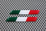 Italien Flagge 3D Domed Aufkleber Set Ducati