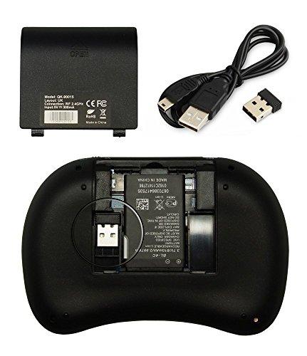 Rii i8 2.4GHz Wireless Kabellose Mini Tastatur (92 Keys DE QWERTZ)Ergonomische mit Touchpad-Maus und Ersatz Wiederaufladbare Li-ion Batterie für Smart TV, Raspberry Pi,Mini PC, HTPC, Computer und Konsolenspiele MacOS,Linux, Android,XBMC,Windows 2000 XP Vista 7 8 (Rii i8 Weiß) - 4