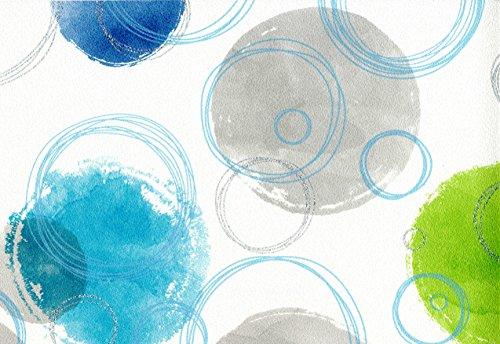 Vlies Tapete Retro Kreise grafisches Muster (weiß türkis grün) (Grün Kreis Der)