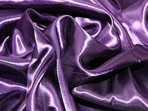 Largeur :  60 cm-Fabrics Tissu de Satin fluide Vendu au mètre Violet foncé