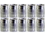 Partyfass-Paket 10 x 5 Liter Partyfass aus Metall wiederverwendbar