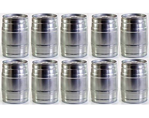 Partyfass-Paket 10 x 5 Liter Partyfass aus Metall wiederverwendbar -