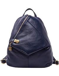 bba0ca7332c04 Rucksack aus echtem Leder für Damen Shoulder Fashion Bag Satchel  Tagesrucksack