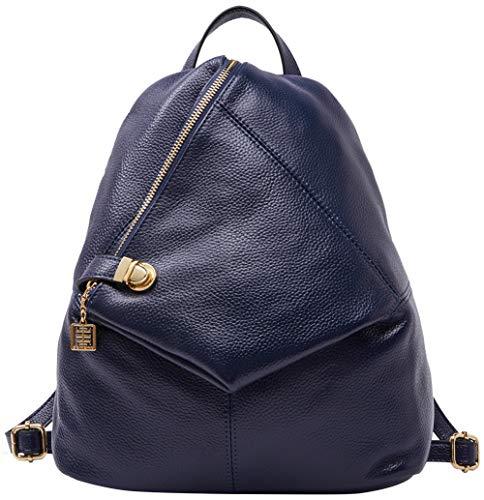 Rucksack aus echtem Leder für Damen Shoulder Fashion Bag Satchel Tagesrucksack, Königsblau, Medium (Sling-rucksack Leder Hobo Echtes)