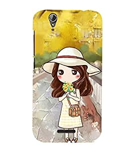 Vizagbeats Girl with Flowers Back Case Cover for ACER Z630