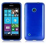 Nokia Lumia 530 Silikon-Hülle in BLAU von Cadorabo - TPU