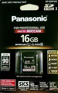 Panasonic 16GB SDHC 16Go SDHC Classe 10 mémoire flash - mémoires flash (SDHC, Classe 10, Noir)