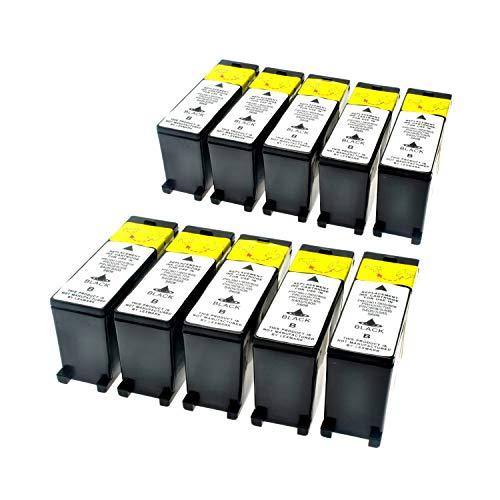 LS 10 Patronen für Lexmark 100 XL Black Schwarz je 510 Seiten, kompatibel zu 14N1068E (Lexmark Patrone Xl 100)