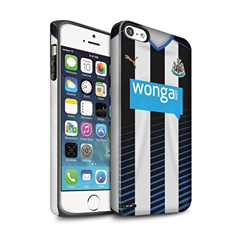 Offiziell Newcastle United FC Hülle / Matte Harten Stoßfest Case für Apple iPhone 5/5S / Pack 29pcs Muster / NUFC Trikot Home 15/16 Kollektion Fußballer