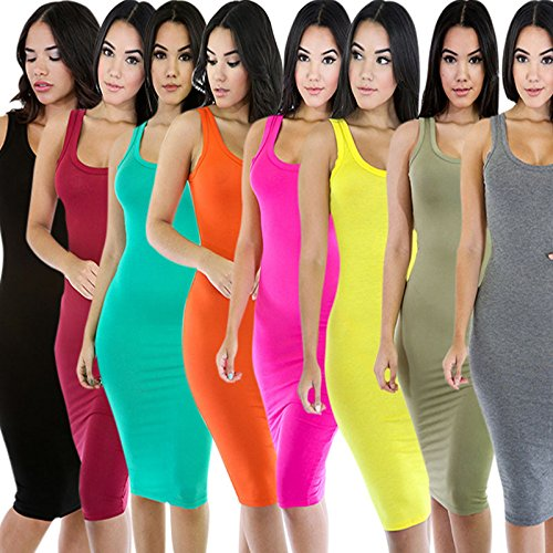 Hrph Sexy Eté Femme Robe Bodycon Long Robe Vest Party Slim Backless Hip Package Tight Dress Vin Rouge
