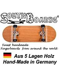 Inoxidable Finger Skateboard Cherry/SI/SWZ South Boards® Handmade Wood tarjeta Real Madera