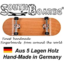 Inoxidable Finger Skateboard Cherry/SI/SWZ South Boards® Handmade Wood tarjeta Real Madera